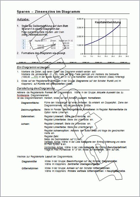 Groß Zinseszins Excel Arbeitsblatt Zeitgenössisch - Super Lehrer ...